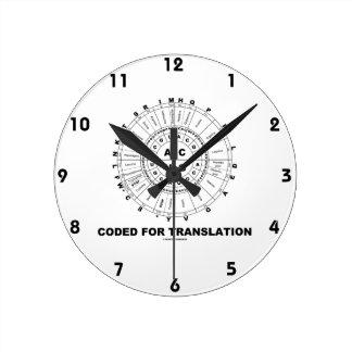 Coded For Translation (RNA Codon Wheel) Round Clock