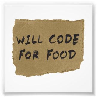 Codera pour la nourriture impressions photographiques