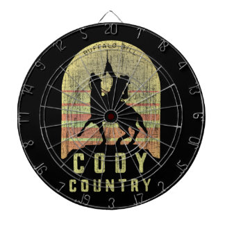 Cody Country Wyoming Dartboard With Darts