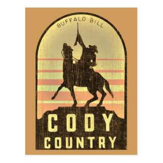 Cody Country Wyoming Postcard