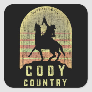 Cody Country Wyoming Square Sticker