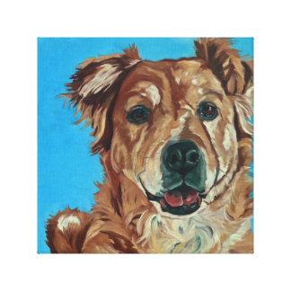 Cody the Golden Retriever Mix Pet Portrait Canvas Print