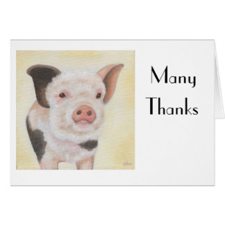 Cody the Piglet Thank You Notecard