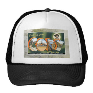 Cody Wyoming Vintage Souvenir Greeting Post Card Trucker Hat