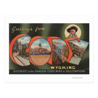 Cody, WyomingLarge Letter ScenesCody, WY Postcard