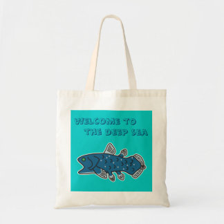 "Coelacanth Tote ""WELCOME TO THE DEEP SEA"""