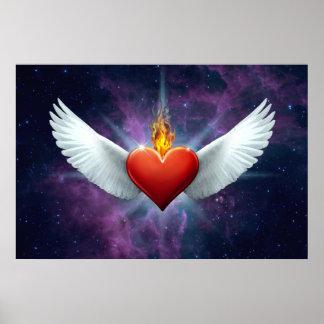 Coeur à ailes posters