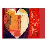 Coeur ACEO de Saint-Valentin d'abrégé sur amour de Carte De Visite Grand Format