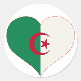 coeur algerie round sticker