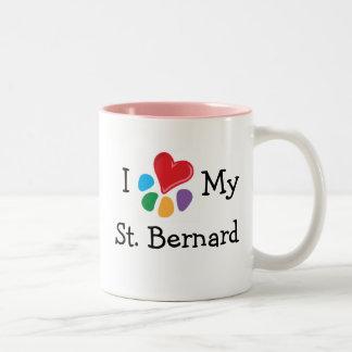Coeur animal de Lover_I mon St Bernard Mug Bicolore
