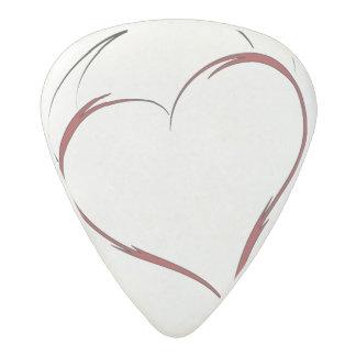 Coeur avec des klaxons médiator acetal