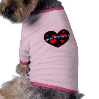 Coeur Tee-shirt Pour Toutou