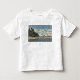 Coeur d'Alene, ID - View of City Beach & Pier Toddler T-shirt