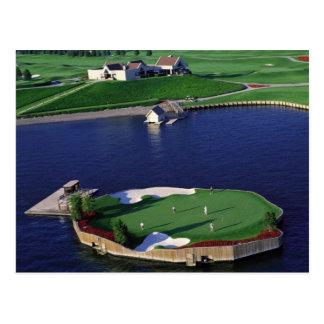 Coeur d'Alene Resort Golf Course's Floating Green Postcard