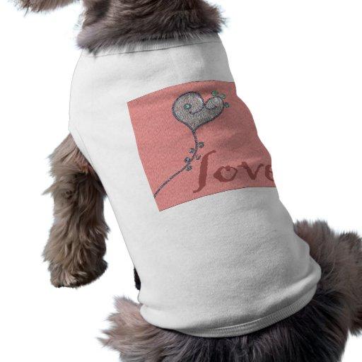 coeur d'amour manteaux pour toutous