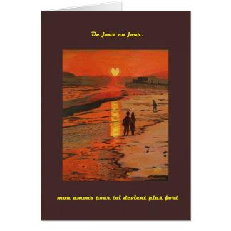 Coeur de Crepuscule carte (Sunset Heart card) Card