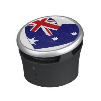 Coeur de drapeau de l'Australie Haut-parleur Bluetooth