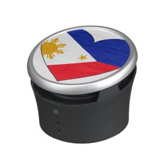 Coeur de drapeau de Philippines Haut-parleur Bluetooth