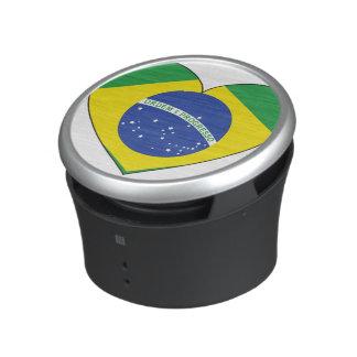 Coeur de drapeau du Brésil Haut-parleur