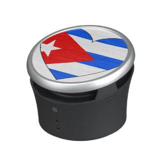 Coeur de drapeau du Cuba Haut-parleur