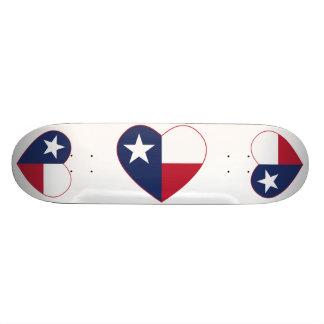 Coeur de drapeau du Texas Plateau De Skateboard