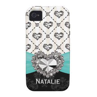 Coeur de fausse pierre IMPRIMÉ par Aqua Coque Case-Mate iPhone 4