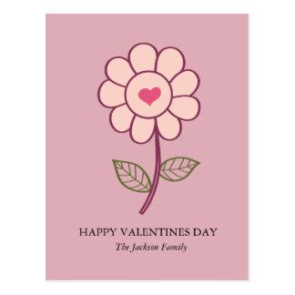 coeur de fleur cartes postales