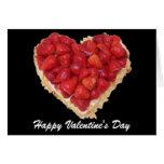 coeur de fraise carte de vœux