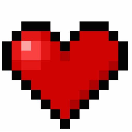 Coeur De Pixel Photos En Relief Zazzle