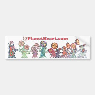 Coeur de planète comportant le HeartMarking HeartF Autocollant De Voiture