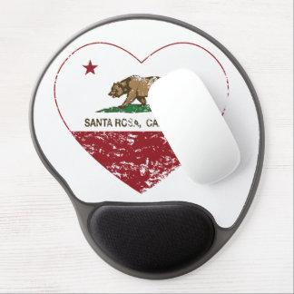 coeur de Santa Rosa de drapeau de la Californie af Tapis De Souris Avec Gel