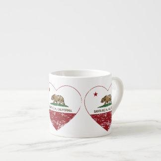 coeur de Santa Rosa de drapeau de la Californie af Tasse Expresso