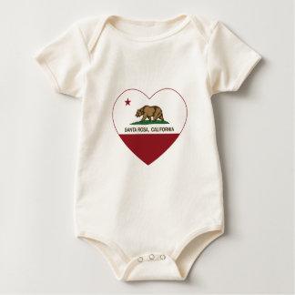 coeur de Santa Rosa de drapeau de la Californie Body