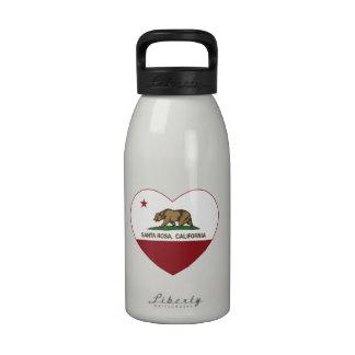 coeur de Santa Rosa de drapeau de la Californie Bouteilles D'eau
