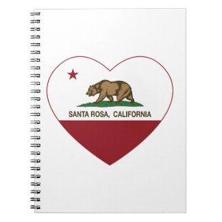 coeur de Santa Rosa de drapeau de la Californie Carnets