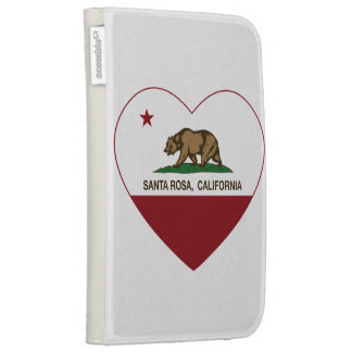 coeur de Santa Rosa de drapeau de la Californie Coque Clavier Kindle