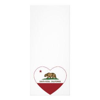 coeur de Santa Rosa de drapeau de la Californie Invitation