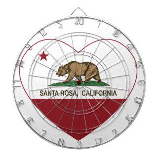 coeur de Santa Rosa de drapeau de la Californie Jeu De Fléchettes