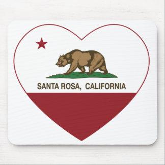 coeur de Santa Rosa de drapeau de la Californie Tapis De Souris