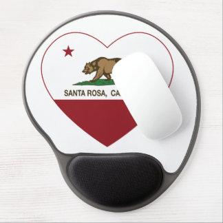 coeur de Santa Rosa de drapeau de la Californie Tapis De Souris Gel