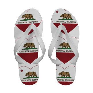 coeur de Santa Rosa de drapeau de la Californie Chaussures D'été