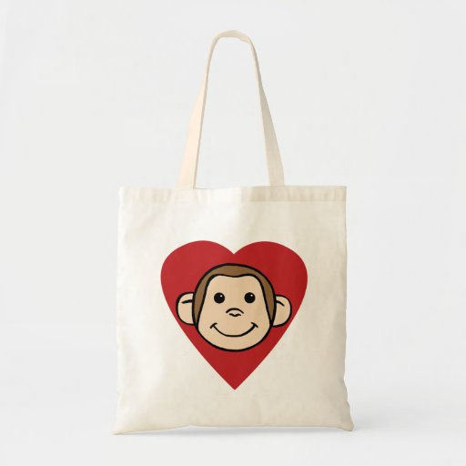 Coeur de singe sacs de toile