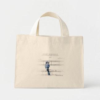 Coeur et âme - geai bleu sacs
