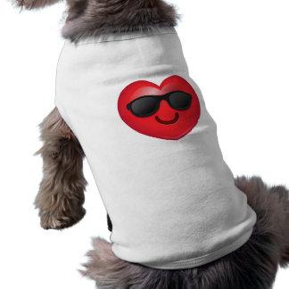 Coeur frais d'Emoji Manteau Pour Animal Domestique