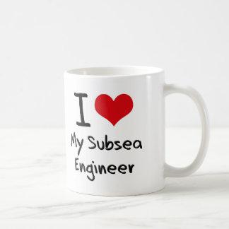 Coeur I mon ingénieur sous-marin Mug Blanc