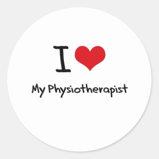 Coeur I mon physiothérapeute Autocollant