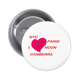 COEUR LOVE NYC PARIS LONDON CANBERRA 1 PNG PIN'S AVEC AGRAFE