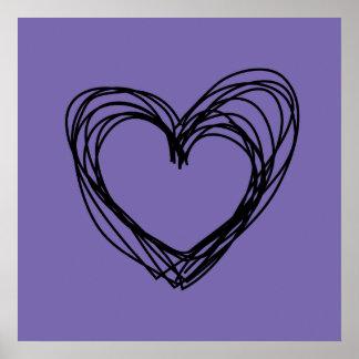 coeur noir 1 poster