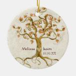 Coeur personnalisé de noms Antiqued par racines Décoration Pour Sapin De Noël