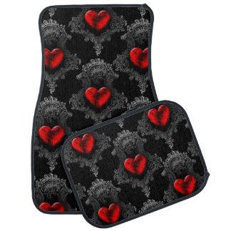 Coeur rouge de Goth Tapis De Sol